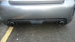 Fiat 500 Abarth Carbon Fibre Rear Diffuser